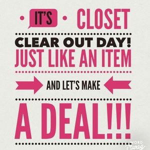 Tuesday Closet Clearout - Deals All Day!